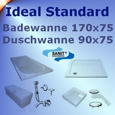ideal standard badewanne 170x75 duschwanne 90x75 idss1 ebay. Black Bedroom Furniture Sets. Home Design Ideas