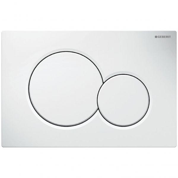 Geberit Sigma01 Betätigungsplatte 2-Mengen-Spülung weiß-alpin 115.770.11.5 - Bild 1