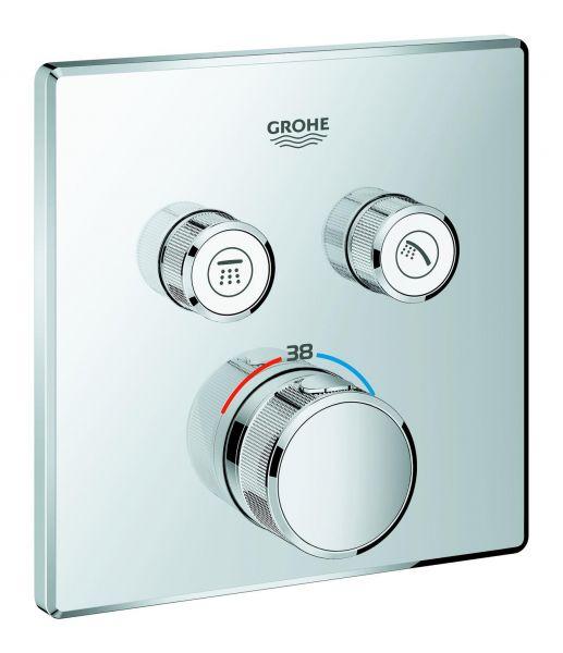Grohe Thermostat Grohtherm SmartControl 29124 eckig FMS 2 Absperrventile verchromt 29124000 - Bild 1