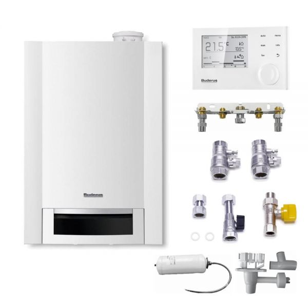 Buderus Logaplus-Paket W26 Gas-Brennwerttherme GB172-24 kW T50 G20 EG-E Logamatic RC310 - Bild 6