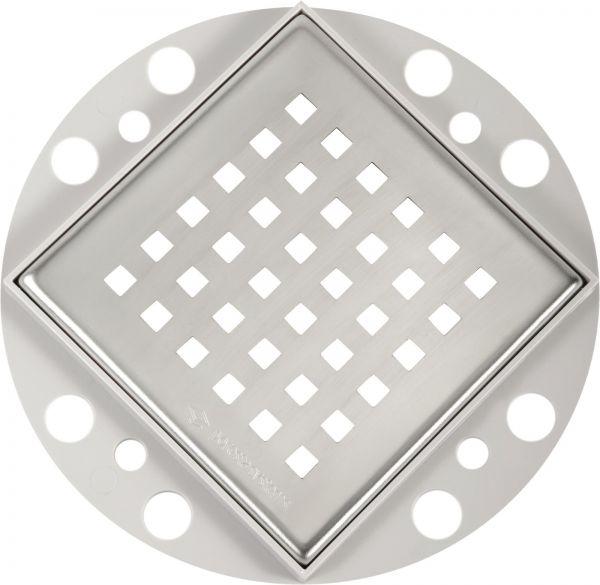 Poresta® Rostrahmen quadratisch 9mm inkl. Edelstahlrost für BF KMK 18.300.321 - Bild 1
