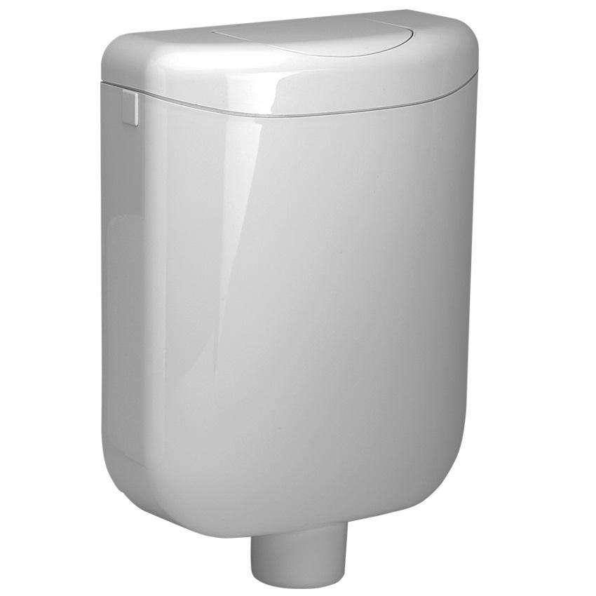 Pagette Spülkasten EcoLux 6 Liter Mit Start Stop AP Schwitzwassergedämmt  Weiß 7.9501 0102