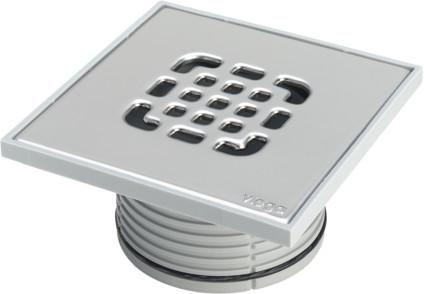 Viega Aufsatz 150x150mm 4934.4 grau Edelstahlrost 555221 - Bild 1