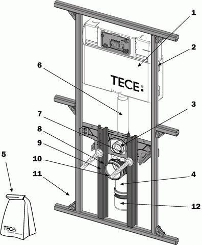 TECE TECEprofil Beipack für WC-Modul 9.820.066