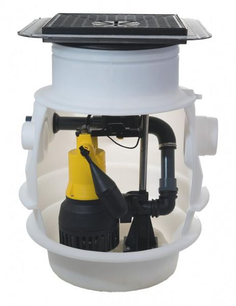 Jung Unterflurbehälter Baufix 100 mit Bodenablauf ohne Pumpe JP47214 - Bild 1