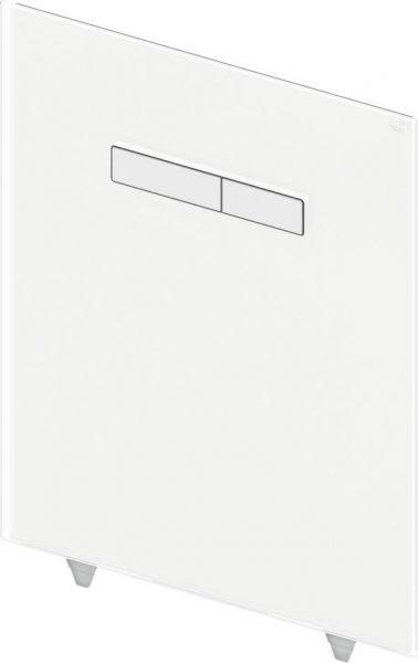 TECElux Betätigungsglasplatte Glas weiß Tasten chrom 9650001 - Bild 1