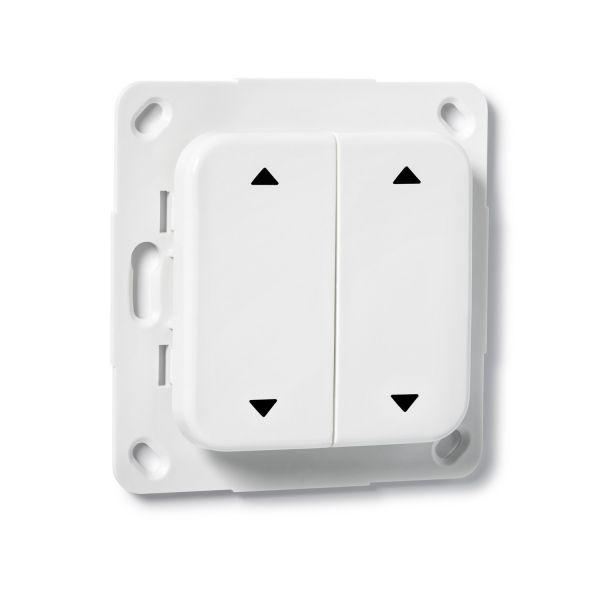 COQON Jalousietaster 2-fach Q-Wave Format B5 weiß TSFB5QAZ2 - Bild 1