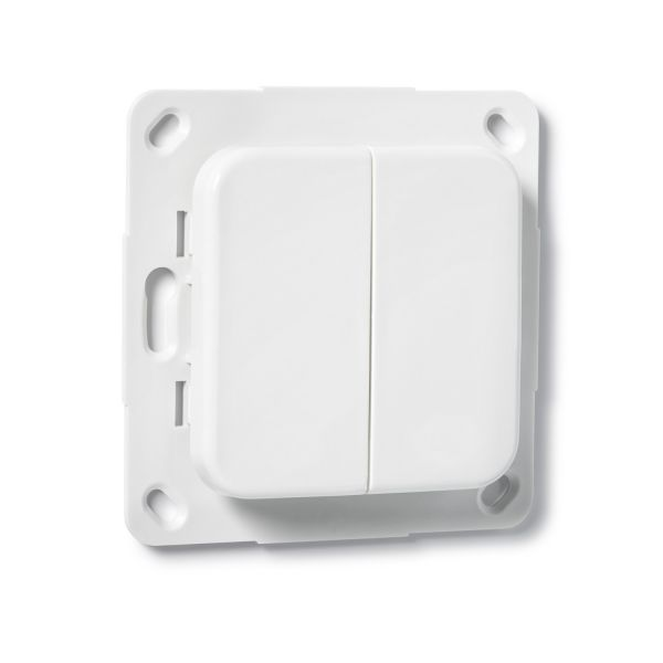 COQON Wandtaster 2-fach Q-Wave Format B5 weiß TSFB5QEA2 - Bild 1