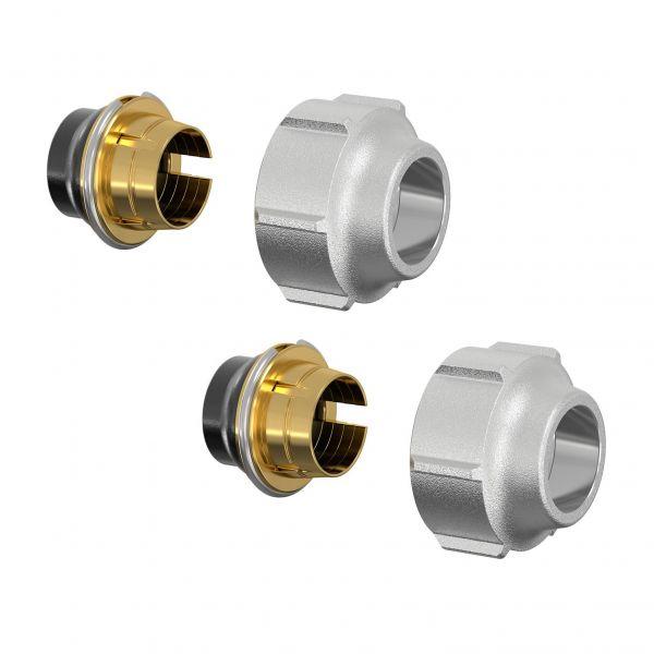 Simplex Klemmverschraubung-Set A11 15x1mm x G3/4i Eurokonus, für Kupfer und Weichstahlrohre - Bild 1
