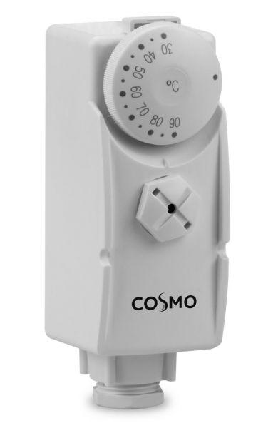 Rohranlegethermostat CAT 30-90°C, 230V, mit Außenskala, Spannband und Arretierung der Temperatur - Bild 1
