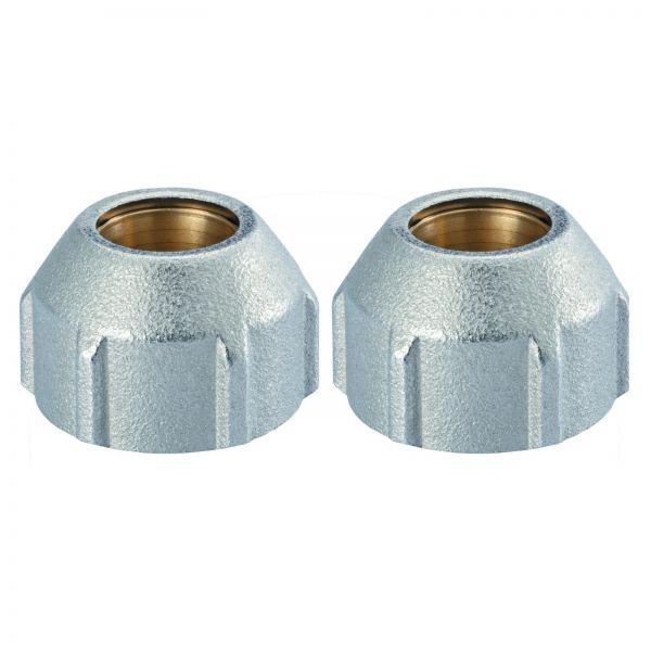 Hummel SpeedFIX Klemmverschraubung G 3/4 x 15 mm Messing vernickelt, 2er Set 2855001501 - Bild 1