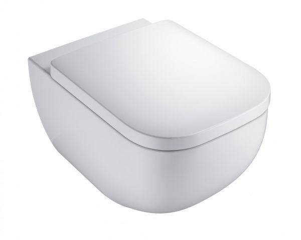 VIGOUR Wand-Tiefspül-WC Set derby, spülrandlos, inkl. WC-Sitz mit Absenkautomatik und Montage-Set - Bild 1