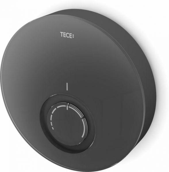 TECEfloor Designthermostat-Blende DT Glas schwarz, Gehäuse schwarz 77400015 - Bild 1