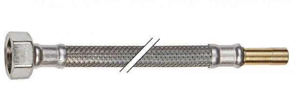 Flexibler Verbindungsschlauch Silikon KTWA 300mm Überwurfmutter 1/2'' x 10mm Rohrstutzen - Bild 1