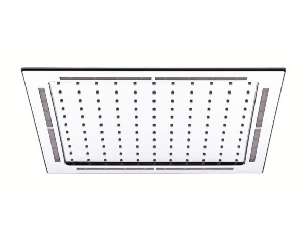 Nikles Regenkopfbrause Rainlight Switch Quadro Kit LED verchromt