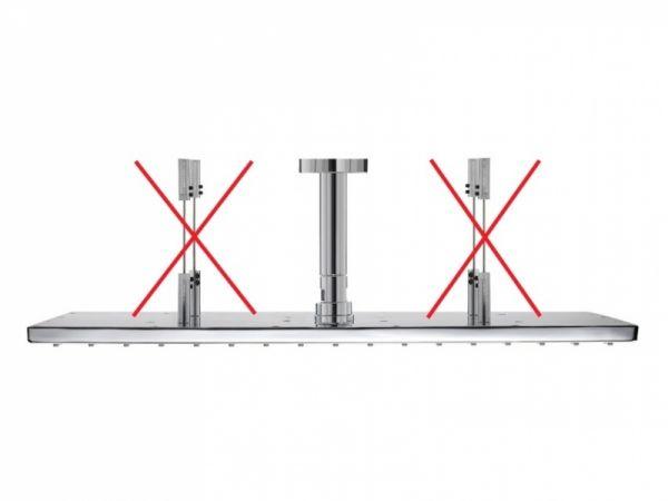 Nikles Deckenanschluss für Befestigungskit XL Quadro 500 x 370