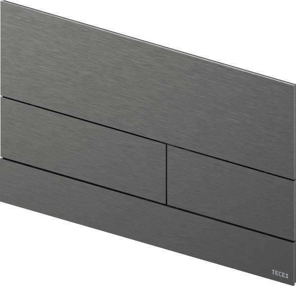 TECEsquare II Metall WC-Betätigungsplatte, Brushed Black Chrome / Chrom schwarz gebürstet 9240836 - Bild 1