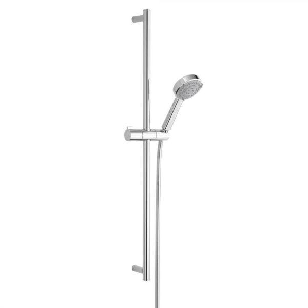 Nikles Brausegarnitur Techno XL 95 Kit mit Stange 90cm, Schlauch 150cm verchromt NIKTECBG953 - Bild 1