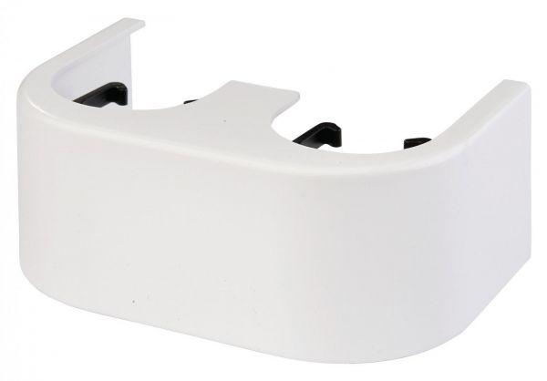 Simplex Designverkleidung für Hahnblock Eck, Kunststoff weiß F10094 - Bild 1