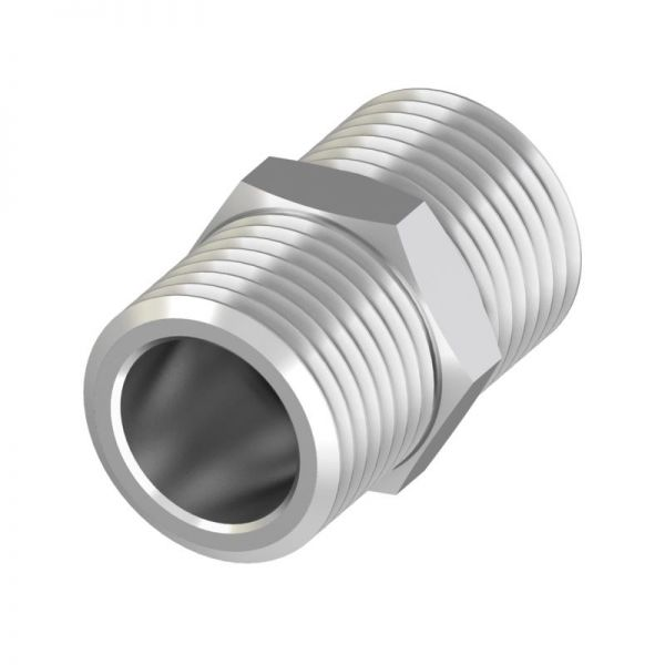 TECEfloor Universalkupplung AG 3/4'' x AG 3/4'' Eurokonus vernickelt 77220034 - Bild 1