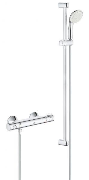 Grohe Thermostat Brausebatterie Grohtherm 800 mit Brausegarnitur 900mm verchromt 34566001 - Bild 1