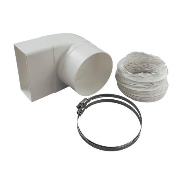 IKM Anschlussbogen mit Schlauch 500 mm weiss für Rohr 100 mm 32150100 - Bild 1