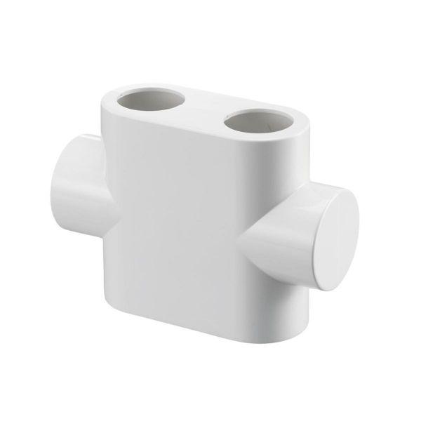 Oventrop Design Abdeckung für Multiblock T Durchgangsform weiß 1184095 - Bild 1