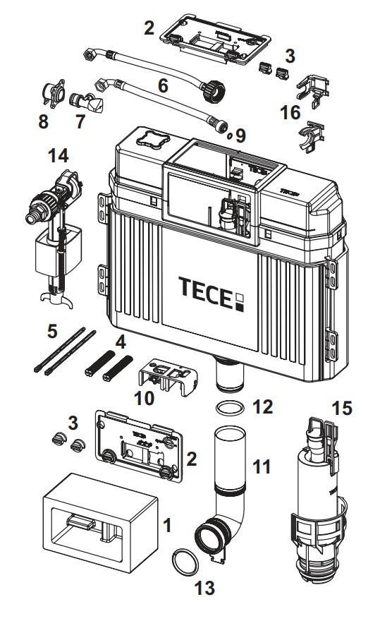 TECE Panzerschlauch Ersatzteil TECEspültechnik 9820026