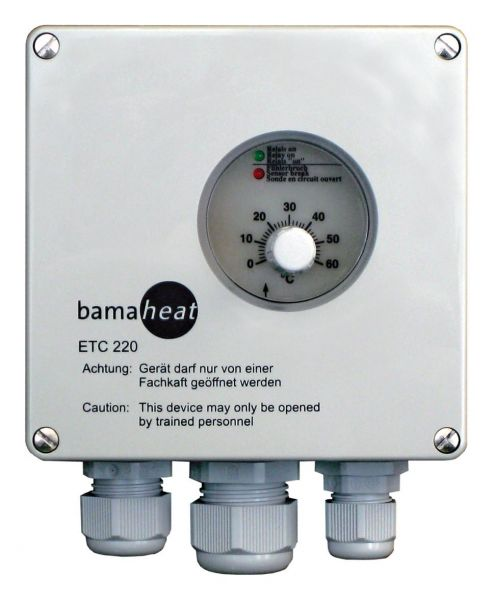bamaheat Thermostat mit Rohranlege- und Umgebungsfühler, Wandaufbau 8000-80.00 - Bild 1