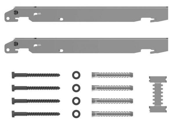 Kermi Schnellmontagekonsolen Set für Typ 11 bis 33, BH 400 mm, WA 30 mm, weiß - Bild 1