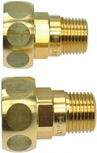 Pumpenverschraubung Satz Rp 1/2'' AG x 15i x 1'' ÜW aus Messing ohne Dichtungen PVB151525O - Bild 1