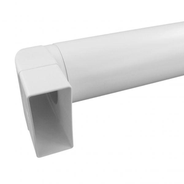 IKM Anschlussbogen mit Rohr 500mm weiss für Rohr 125mm 32140200 - Bild 1