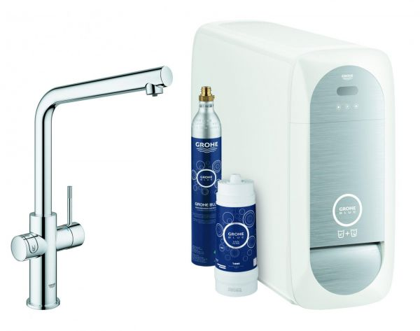 GROHE Blue Home Starter-Kit Küchenarmatur Bluetooth/WIFI L-Auslauf chrom 31454001 - Bild 1