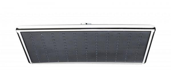 Nikles Kopfbrause Infinity 300 mm Quadro ABS verchromt / Carbon NIKINFKBQ30CB - Bild 1