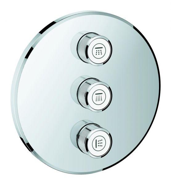 Grohe 3-fach UP-Ventil Grohtherm Smart Control 29122 FMS rund verchromt 29122000 - Bild 1
