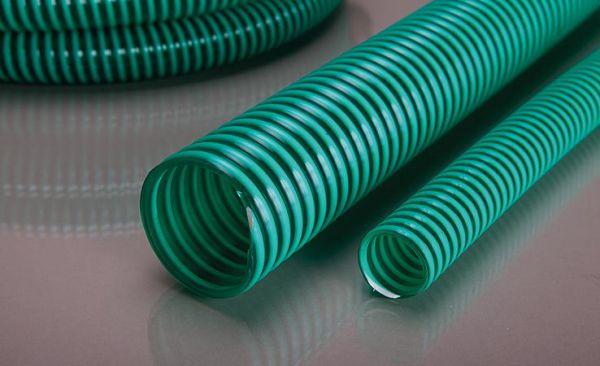 Spiralsaugschlauch PVC grün 1 1/4'' leicht, verstärkt, Rolle 10 Meter - Bild 1