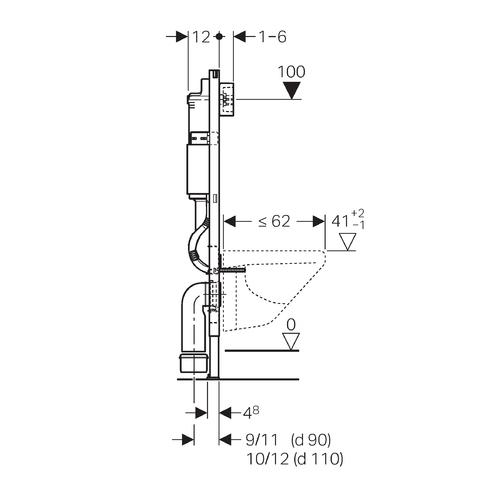 geberit duofix sp lkasten delta 112cm mit bausatz set. Black Bedroom Furniture Sets. Home Design Ideas