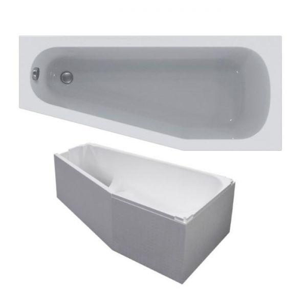 raumspar badewanne 160x70 45x46 5 cm rechts wei k276101