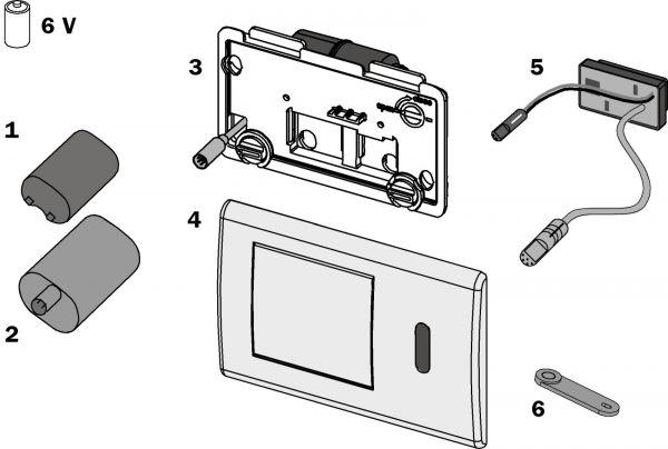 TECE Ersatzteil IR-Sensor 6 V. für WC-Elektronik 9.820.198 - Bild 1