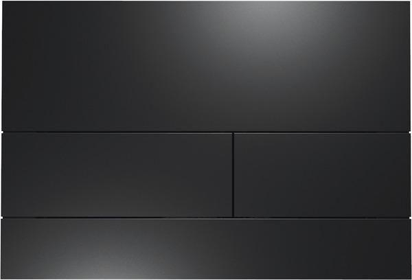 TECEsquare WC-Betätigungsplatte Metall II Schwarz matt, zur Betätigung vorne/oben 9240833 - Bild 1