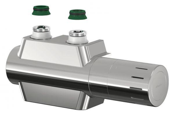 Simplex Ventilhahnblock VARIODESIGN F12161 mit Thermostatkopf TC-D1 und Blende, verchromt - Bild 1
