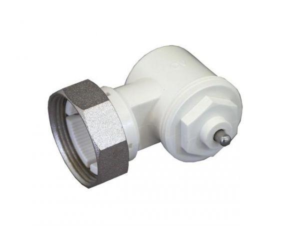 Oventrop Winkeladapter für Ventil-Heizkörper Gewindeanschluss M30x1,5 weiß 1011450 - Bild 1