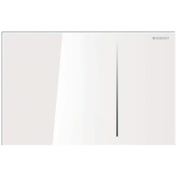 Geberit Sigma70 Betätigungsplatte 2-Mengen pneumatisch Glas weiß 115.620.SI.1 - Bild 1
