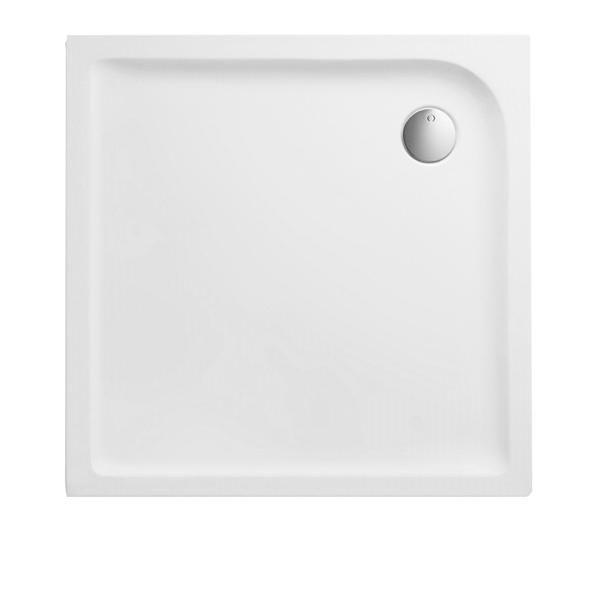 Duschwanne 80x80x3,5 cm quadratisch superflach aus Sanitär-Acryl weiß - Bild 1