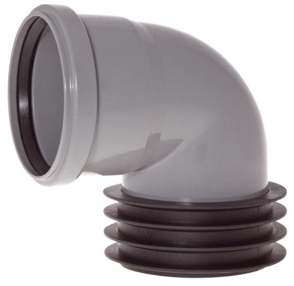 Airfit Winkel-Steckmuffe 110x110 mm konzentrisch aus PP 112110WS - Bild 1
