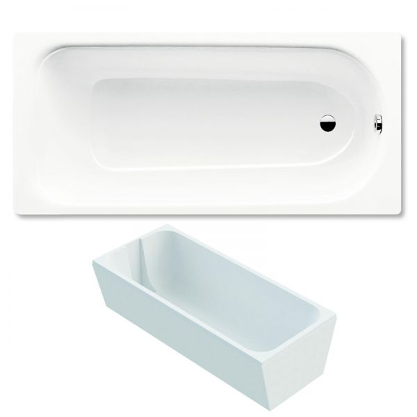 kaldewei saniform plus badewanne 160x70 cm modell 362 1 stahl email weiss inklusive tr ger. Black Bedroom Furniture Sets. Home Design Ideas