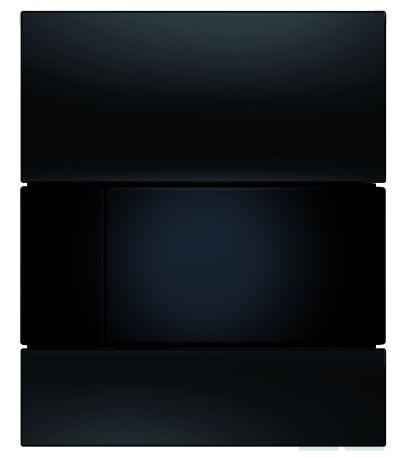 TECEsquare Glas Urinal-Betätigungsplatte schwarz, Tasten schwarz 9242809 - Bild 1
