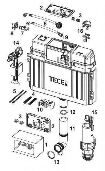 TECE Füllventilhalter 17mm 3/8'', für TECE Spülkasten 9820372, für Füllventil F1/F3 bis 2019 - Bild 1
