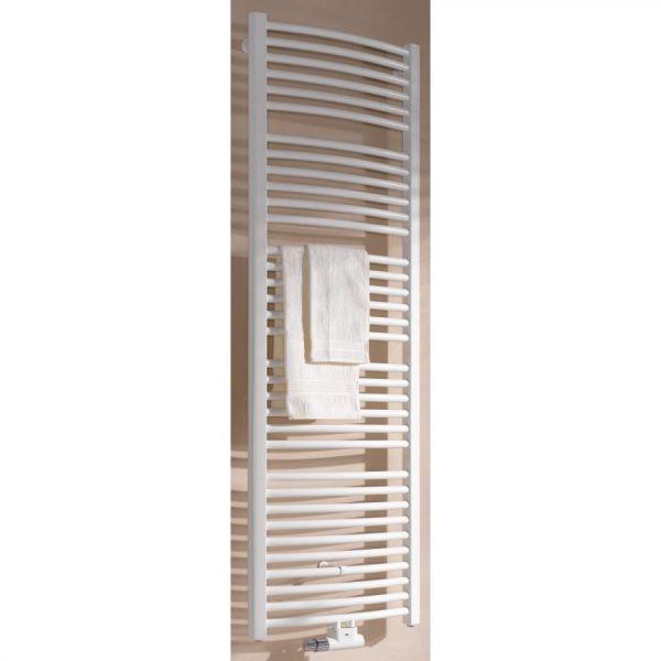 Kermi Badheizkörper Basic-50 gebogen 1770 x 51 x 450 mm QN767, weiß RAL 9016 ER01M1800452XXK - Bild 1
