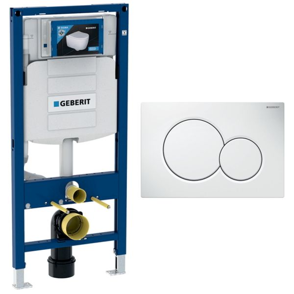 Geberit Duofix Spülkasten Sigma Bauhöhe 112 cm 111.300.00.5 Vorwandset optional Drückerplatte